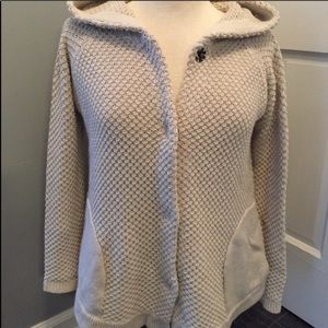 Anthropologie hooded cardigan sweater Small